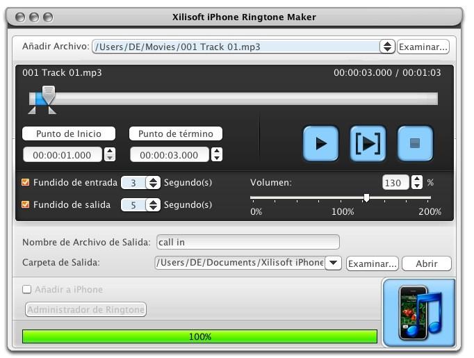Xilisoft iPhone Tonos Creador Mac